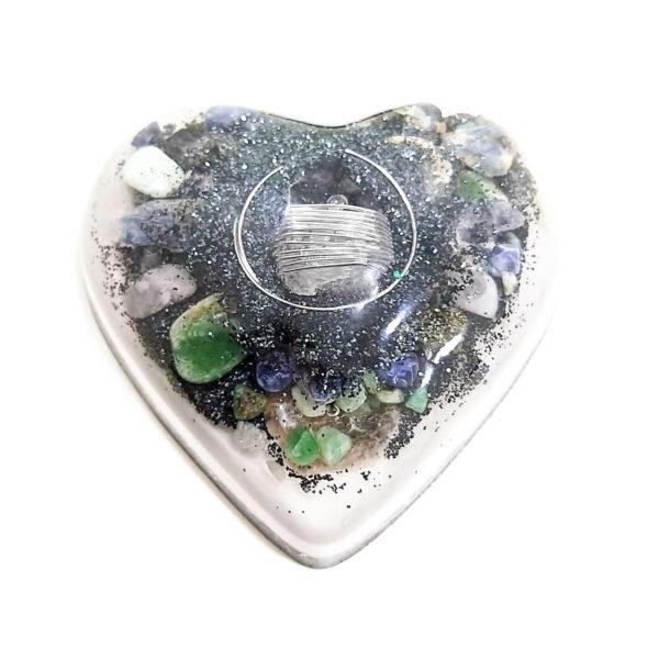 Orgonite Personalizado Coração Grande 14cm