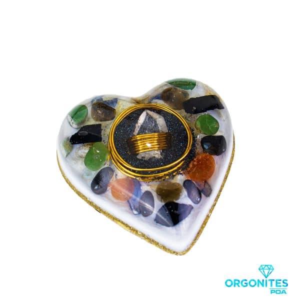 Orgonite Personalizado Coração Médio 10cm