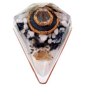 Orgonite Personalizado Diamante Grande 13cm