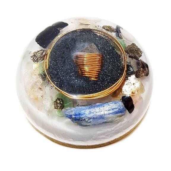 Orgonite Personalizado Meia Esfera Média 11cm