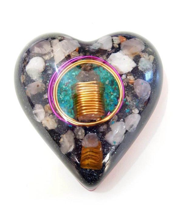 Orgonite Personalizado do Amor Coração Médio 10cm