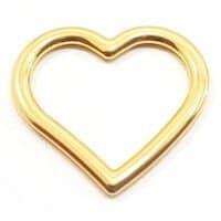 Pingente Coração Dourado