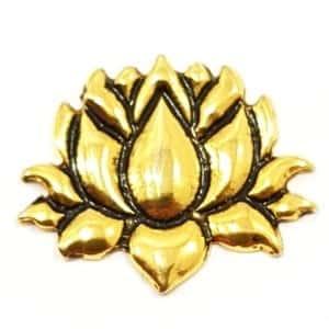 Pingente Flor de Lótus Dourado