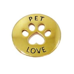 Pingente Pet Love Dourado