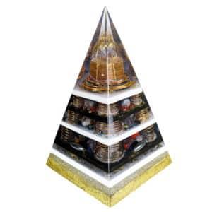 Orgonite Personalizado Pirâmide com Hematitas Magnetizadas 46 a 51cm