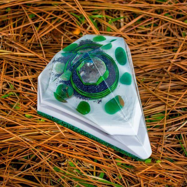 Orgonite Personalizado Diamante Médio 11cm