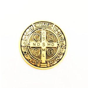 Pingente Medalha de São Bento Dourada