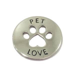 Pingente Pet Love Prateado