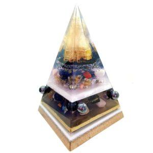 Orgonite Personalizado Pirâmide com Hematitas Magnetizadas 29 a 32cm