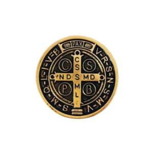 Medalha São Bento Dourada Pequena