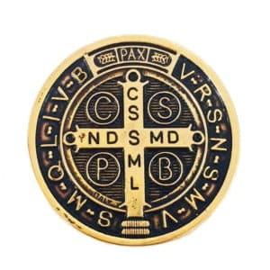 Medalhão São Bento Dourado
