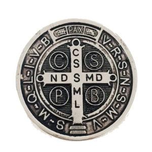 Medalhão São Bento Prata