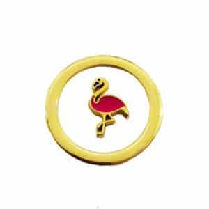 Flamingo Pequeno Dourado