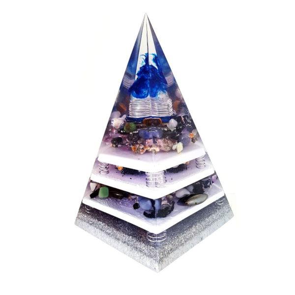 Orgonite Personalizado Pirâmide com Hematitas Magnetizadas 40 cm
