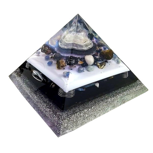 Orgonite Personalizado Grande Pirâmide Gizé com Hematitas Magnetizadas 28 a 30cm