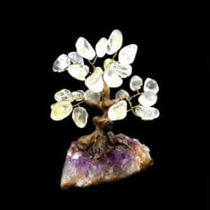 Árvore De Cristal De Quartzo com Base de Ametista 8 Galhos