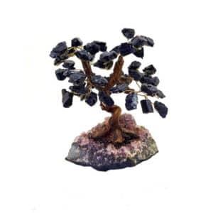 Árvore De Turmalina Negra com Base de Ametista 15 Galhos