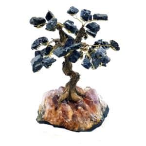 Árvore De Turmalina Negra com Base de Ametista 18 Galhos