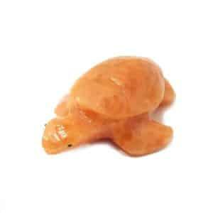 Tartaruga de Calcita Laranja Orquidea