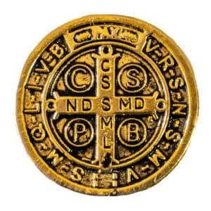 Medalhão de São Bento Dourado