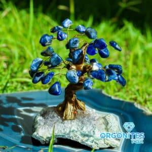 Árvore de Sodalita com Base de Ametista 15 Galhos