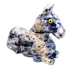 Cavalo de Quartzo Azul