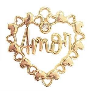Coração do Amor Dourado