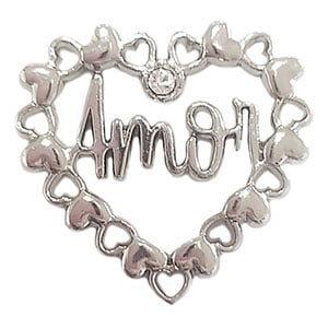 Coração do Amor Prata