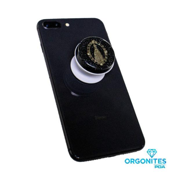 Popsocket de Orgonite Personalizado para Proteção Contra a Radiação Emitida pelo Celular