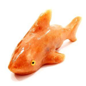 Tubarão de Calcita Laranja