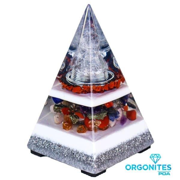 Orgonite Personalizado Pirâmide 15,5cm