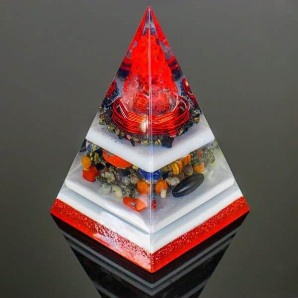 Orgonite Personalizado Pirâmide com Hematita Magnetizada 17 a 19cm