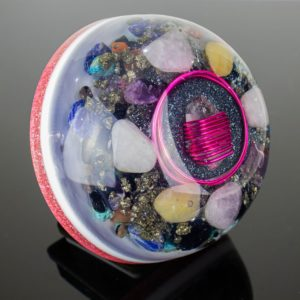 Orgonite Personalizado Meia Esfera Grande 14.5cm