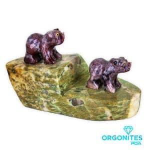 Urso de Magnesita e Amazonita