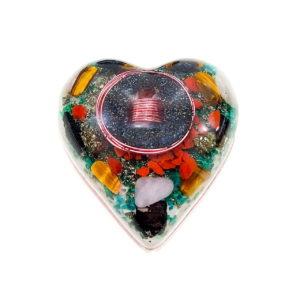 Pronta Entrega - Orgonite Coração Médio Rosa 10cm