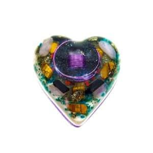 Pronta Entrega - Orgonite Coração Médio Roxo 10cm