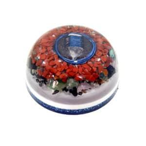Pronta Entrega - Orgonite Meia Esfera Grande Azul 14.5cm