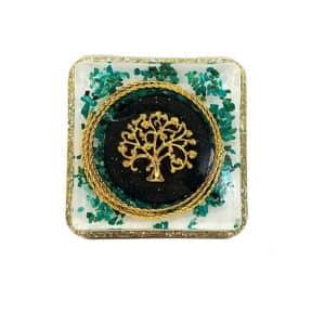 Pronta Entrega - Orgonite Árvore da Vida Dourado