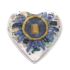 Pronta Entrega - Orgonite Coração Grande Dourado 14cm