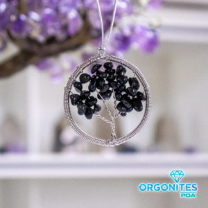 Pendente para Ambientes Árvore de Obsidiana Negra