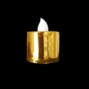 Vela Dourada de LED eletrônica