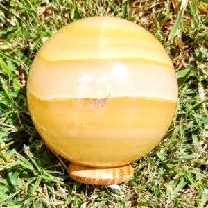 Esfera Ônix Amarelo e Sardônia