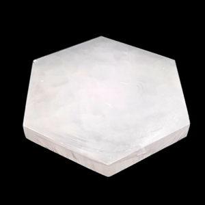 Placa de Selenita em Formato de Hexágono