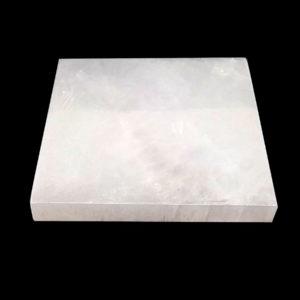 Placa de Selenita em Formato Quadrado