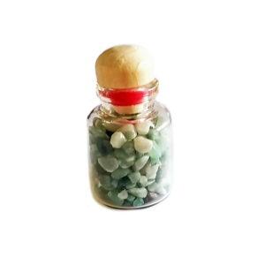 Potinho com Pedras de Quartzo Verde
