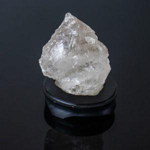 Cristal de Quartzo com Base de Madeira