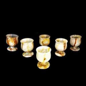 Taças de Ônix Amarelo e Sardônia