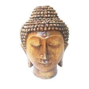 Cabeça de Buda Sidarta de Gesso