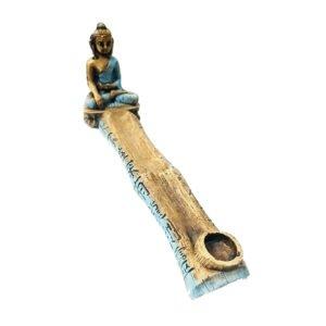 Porta Incenso Dourado com Buda