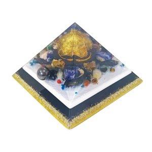 Orgonite Personalizado Pirâmide Gizé 19cm com Hematitas Magnetizadas